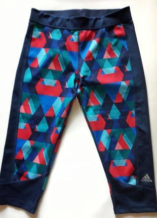 Красочные спортивные лосины-леггинсы бренда adidas techfit climalite