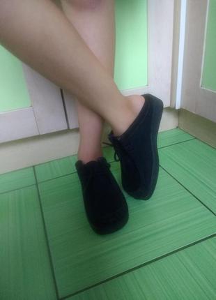 Туфли мокасины с открытой пяткой, отлично для сменки, red tag