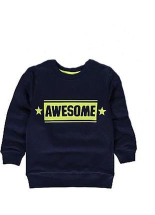 George теплый свитшот, утепленный свитер. на 5-6 лет