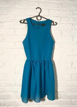 Небесное, голубое нарядное платье от topshop