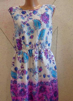Красивое платье в цветы. размер 14-18