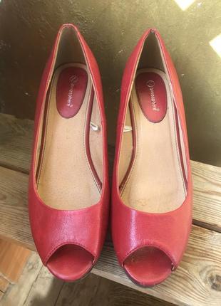 Туфли с открытым носком atmosphere 40 размер 25,5 см по стельке