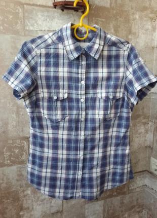 H&m клетчатая рубашка logg без рукавов
