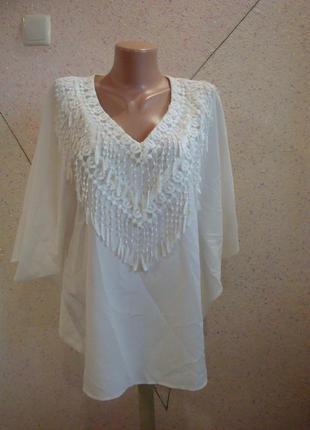 Модная шикарная блуза летучая мышь. размер 12-20