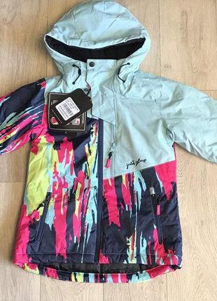 Куртка зимняя, подростковая, лыжная, непромокаемая, термо девочке