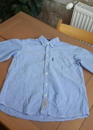 H&m крутая рубашка на мальчика с длинным рукавом рост 116