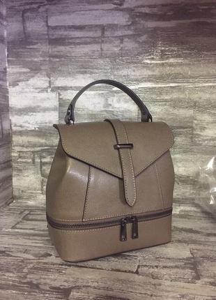 Кожаный рюкзак (сумка) италия