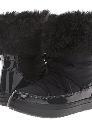 Сапоги дутики crocs lodge point lace р.38, луноходы крокс