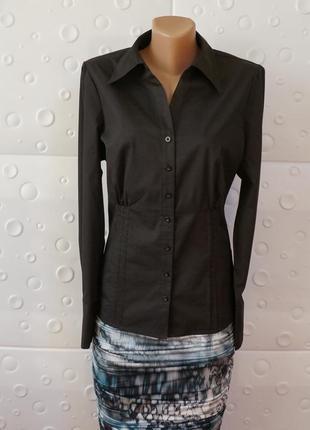 Стильная классическая чёрная рубашка papaya