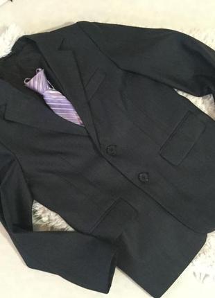 Скидка +подарок🎁 супер-модный пиджак крутого качества в школу на возраст 11-12лет!)👔😎🎒)))