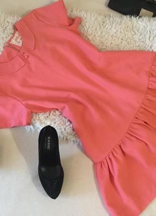 Блуза - туника , великолепная в коралловом цвете платье-туника а-ля барби🌹❣️💋