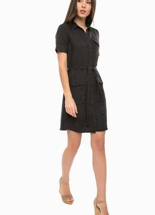 Коттоновое платье-рубашка s/m.бесплатная доставка