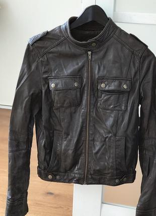 Кожаная куртка mango/ шкіряна куртка