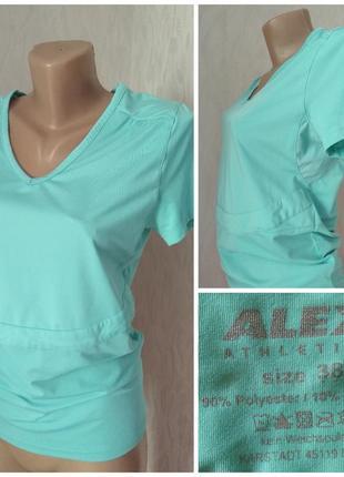 Alex athletics футболка спортивная мятного цвета удобная с сеткой s 36 8 m 38 10