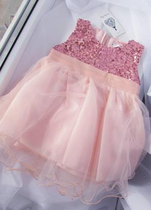 Нарядное платье девочке на годик