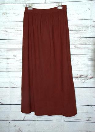 Длинная красивая юбка из льна и вискозы  от evans