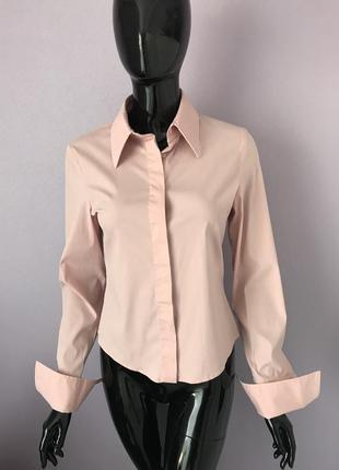 Рубашка розовая на запонках