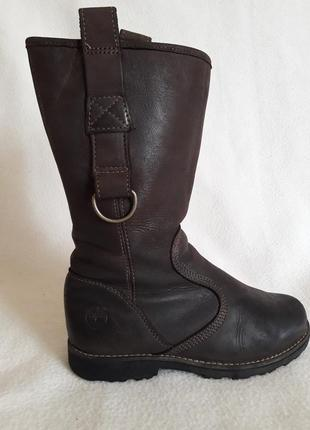 Натуральные кожаные сапоги фирмы timberland p. 33 стелька 21 см