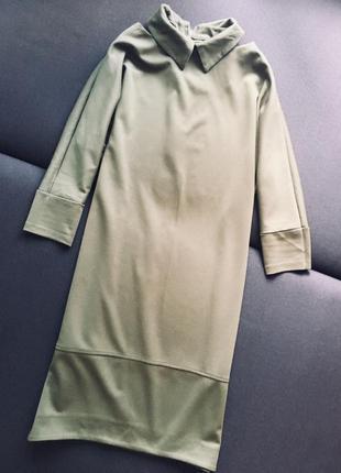 Сукня кольору хакі хл-ххл