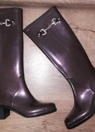 Перламутр резиновые сапоги на каблуке anna fidanza,италия