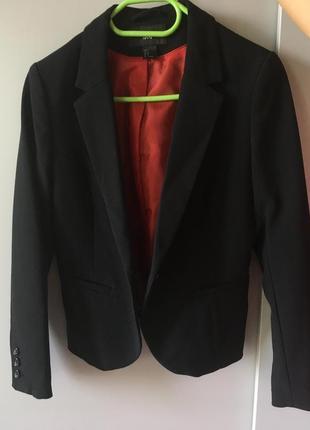 Классический чёрный пиджак h&m
