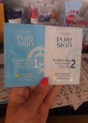 Маска для лица против черных точек pure skin