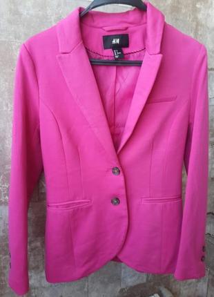 H&m яркий трикотажный пиджак