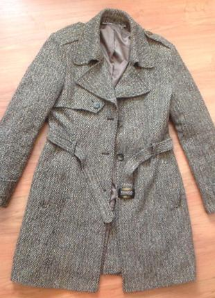 Шерстяное пальто 10-12р.