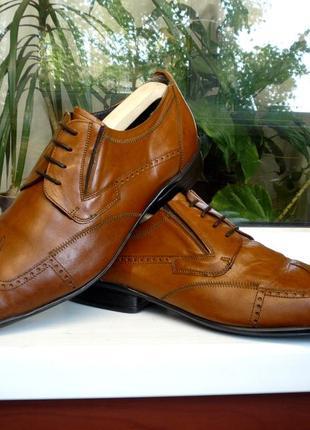 """Комфортные мягкие туфли - броги на любой подьем """" bellomo"""", италия! 43 р."""