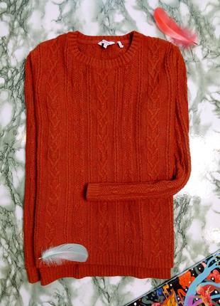 Кофта / свитер вязаный, терракотовый