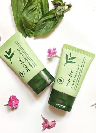 Пінка для вмивання з екстрактом зеленого чаю innisfree - green tea cleansing foam