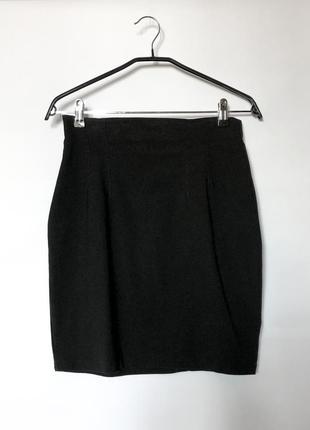 Черная мини юбка h&m