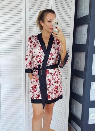 Халат кимоно сакура атлас