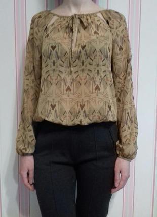 Шифоновая блуза с орнаментом от atmosphere в идеальном состоянии