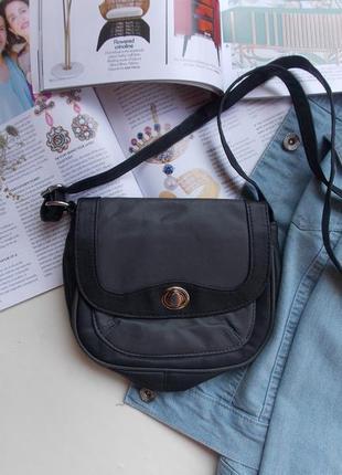 217690adcb39 Красивая сумка через плечо на длинном ремешке серая черная, цена ...