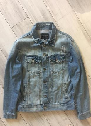 Джинсовуа джинсовая куртка topman