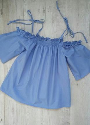 Блуза, топ с открытыми плечами asos