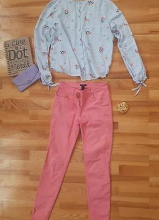 Розовые джинсы h&m
