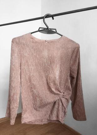 Красивая кофточка нежно розового пудрового цвета от h&m h&m