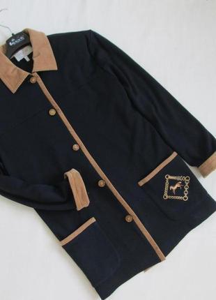 Peter hahn!! !бренд/качество/люксовый кардиган из 100% высококачественной шерсти