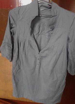 Хлопковая туника с карманами