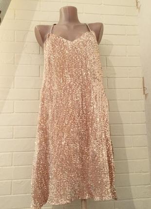 Платье в паетках