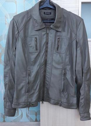 Натуральная кожаная куртка хаки