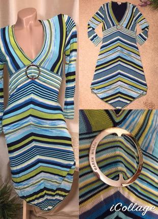 Трикотажное платье karen millen в полоску
