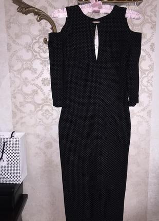 Элегантное итальянское платье poliit с открытой спиной р.s.