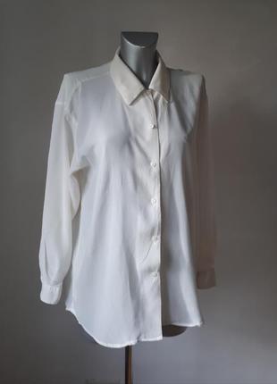 Шелковая  рубашка-блуза