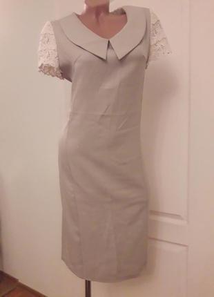 Стильное платье angel, 40, светло-оливкового цвета