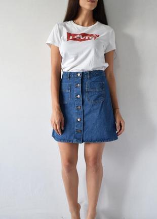 Джинсовая юбка denim co