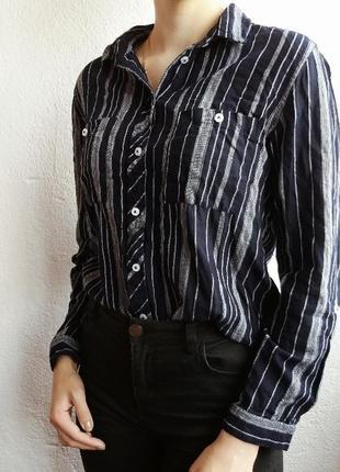 Котоновая рубашка в полоску от primark.