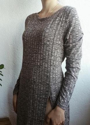 Платье-туника в рубчик от new look.